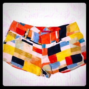 Alice and Olivia colorful mini shorts SZ 6